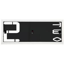 KIOSK-USC-1 ตู้บานเลื่อนทึบเตี้ย มีลวดลาย รุ่น Uni-line ลาย N-Number