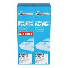 COMPUTE ฟิล์มแฟกซ์ FAX FILM for Brother PC-401,PC-402RF,PC-501 แพ็ก 4 ม้วน (กล่องละ 2 ม้วน X 2กล่อง)