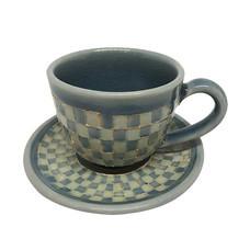 ChiangMai Celadon ชุดแก้วกาแฟ ศิลาดลโมเสค พร้อมจานรอง