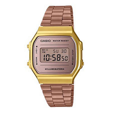 Casio นาฬิกาข้อมือ รุ่น A168WECM-5DF Gold