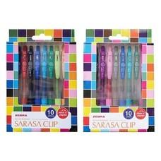 ZEBRA ชุดปากกาหมึกเจล Sarasa Clip 0.5 มม. คละสี (แพ็ก10+10ด้าม)