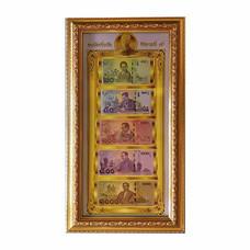 เยี่ยมศิลป์ กรอบภาพ ธนบัตร สะสมของในหลวงราชกาลที่ 9 (พื้นขาว) YS-0041