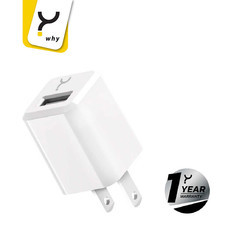 Why Wall Charger 1A 1 USB Space White