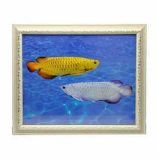 เยี่ยมศิลป์ กรอบรูปสำเร็จพร้อมภาพ ปลามังกรเงิน มังกรทอง YS-0021