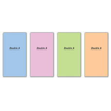 Double A สมุดมุงหลังคา Professional 90x160 มม. 70 แกรม 24 แผ่น คละลาย (แพ็ก 12 เล่ม)