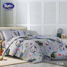 Satin Junior ผ้าปูที่นอน ลาย C134 5 ฟุต