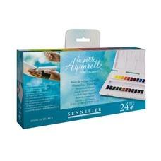 SENNELIER ชุดสีน้ำก้อน Travel Box 24 สี