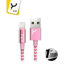 Why Lightning Cable 1 ม. Shibuya Pink