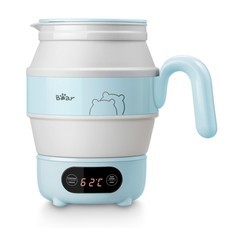 Bear กาน้ำไฟฟ้าพับได้แบบพกพา ความจุ 0.6 ลิตร รุ่น BR0007 สีฟ้า