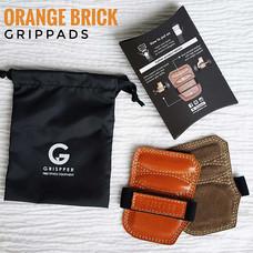 Grispper แผ่นรองฝ่ามือหนังแท้ สำหรับผู้หญิง ฟรีไซส์ สีส้ม