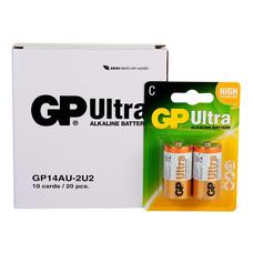 GP Ultra ถ่านอัลคาไลน์ ขนาด C (1กล่อง/10แพ็ก/20ก้อน)