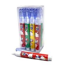 GROS 409 ปากกาลบคำผิด 8 มล. ปลอกใส ด้ามคละสี (12 ด้าม/กล่อง)