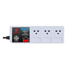 ELECTON สายพ่วง รางปลั๊กไฟคุณภาพสูงมอก. 3 เต้า 1 สวิตช์ 3 เมตร 2 USB รุ่น EP9-3103 USB