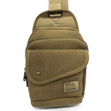 Dolphin bag กระเป๋าคาดอก B814 สีตาล