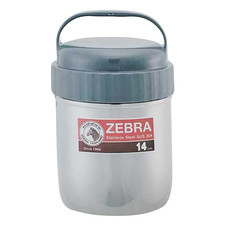 Zebra หม้อหิ้ว 2 ชั้น 14 ซม. สีเทา