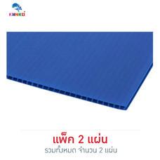 PANKO แผ่นฟิวเจอร์บอร์ด 65x80 ซม. หนา 3 มม. สีน้ำเงิน (แพ็ก 2 แผ่น)