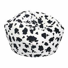 Your Style บีนแบ็กทรงกลมผ้ากำมะหยี่ขนสัตว์ลายวัว
