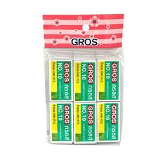 GROS ลวดเย็บกระดาษ เบอร์ 10 (แพ็ก 6 กล่อง)