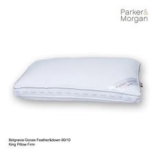 Parker & Morgan เบลเกรเวีย หมอนขนห่านแท้ (ขนอก 90% ขนปีก 10%) King