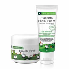 JC new zealand Placenta Creme 20 ก. + Placenta Facial Foam 50 ก. (แพ็ก 2)