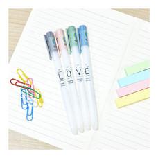 Aihao 862A ปากกาเจลลบได้ ลาย LOVE คละสี (แพ็ก 4 ด้าม)