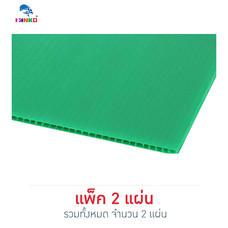 PANKO แผ่นฟิวเจอร์บอร์ด 65x80 ซม. หนา 3 มม. สีเขียวเข้ม (แพ็ก 2 แผ่น)