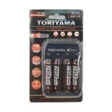Toriyama แท่นชาร์จ + ถ่านชาร์จ รุ่น AA2950 แพ็ก 4