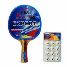 VIVA เซ็ต ไม้เทเบิลเทนนิส รุ่น 2 ดาว 1 อัน และลูกเทเบิลเทนนิส 40 มม. 1 แพ็ก