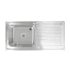 Tecno+ อ่างล้างจาน 1 หลุม 1 ที่พักจาน รุ่น Sink TNS 11100 ST