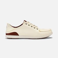Olukai รองเท้าผู้ชาย 10331-1833 M-MANOAOFF WHITE/TOFFEE 11 US
