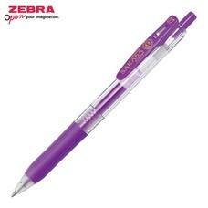 Zebra ปากกาหมึกเจล Sarasa Clip 0.7 มม. JJB15-G หมึกสีม่วง (12 ด้าม/กล่อง)