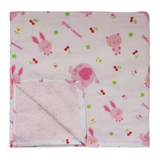 Little Wacoal baby towel pink colour ไซส์ 60 x 120 ซม.