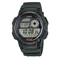 CASIO นาฬิกาข้อมือ รุ่น AE1000W-3AVDF Green