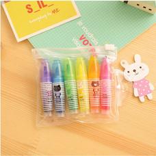 Aihao 6142 ปากกาไฮไลท์แฟนซี (แพ็ค 6 สี 6 ด้าม)