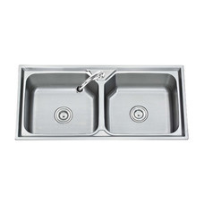 Tecno+ อ่างล้างจาน 2 หลุม รุ่น Sink TNS 201000 SS