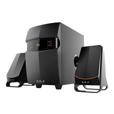 AJ ชุดลำโพงมัลติมีเดีย 2.1 เชื่อมต่อด้วยบลูทูธ รุ่น AJ-921FM สีดำ