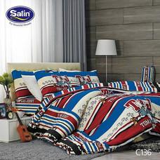 Satin Junior ผ้าปูที่นอน ลาย C136 6 ฟุต