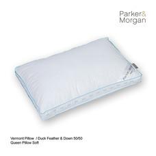 Parker & Morgan Vermont Duck Feather & Down 50/50 Pillow Queen ไซส์
