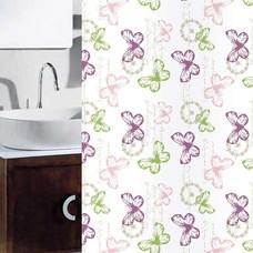 WSPม่านห้องน้ำเนื้อผ้าไนล่อน 100% พิมพ์ลาย ขนาด 180x180 ซม.ลาย KS3-11