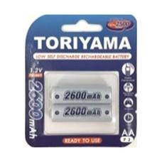 Toriyama ถ่านชาร์จ รุ่น AA2600 แพ็ก 2