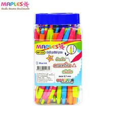Maples 335 ปากกาลูกลื่นหมึกน้ำเงิน 0.7 มม. คละสี (แพ็ก 50 ด้าม)