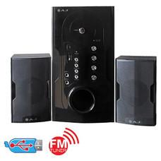 AJ ชุดลำโพง กำลังขับ:1800W 2.1 CH รุ่นAJ-955FM สีดำ