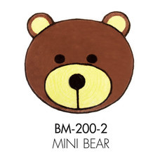 WSP พรมอะครีลิก Funny Mat (55 x 55 ซม.) BM-200-2/Mini Bear