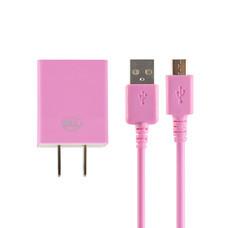Bill Wall Charge Micro USB BLL2003 V8 ชมพู