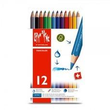 Caran D'Ache สีไม้ระบายน้ำ Fancolor 12 สี กล่องโลหะ