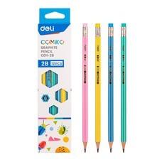 Deli C011 ดินสอไม้ 2B ทรงหกเหลี่ยม (แพ็ก 12 แท่ง)