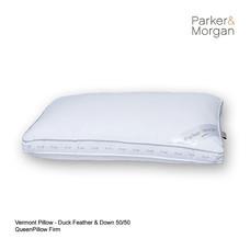 Parker & Morgan Vermont Duck Feather & Down 50/50 Pillow Queen ไซส์(นุ่มแน่น)