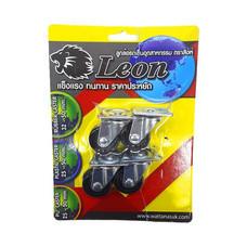 LEON ล้อยางตราสิงห์ แป้นหมุน 32 มม. (แบบแพ็ก)