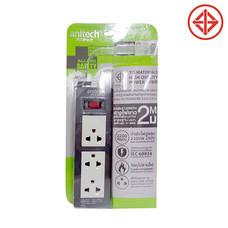 anitech ปลั๊กไฟมาตรฐาน มอก. 3 ช่อง 1 สวิทซ์ รุ่น H613 เทา