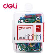 Deli 0024 ลวดสีเสียบกระดาษ (100 ตัว)